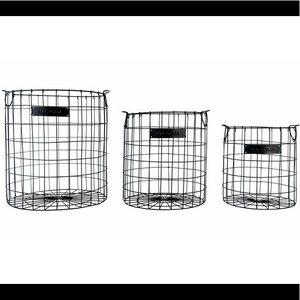 Magnolia home wire checker basket set of 3